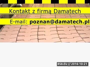Zrzut strony Damatech rozwiązania dla przemysłu - projektowanie, wykonanie, serwis