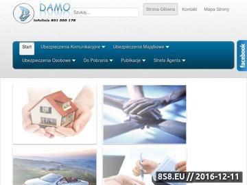 Zrzut strony Biuro Ubezpieczeń DAMO - BUFU DAMO Sp zoo Twoja Bezpieczna Finansowa Przystań