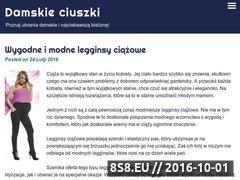Miniaturka domeny www.damskie-ciuszki.pl