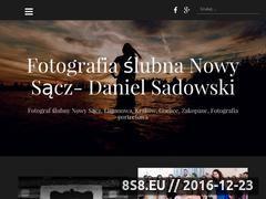 Miniaturka danielsadowski.eu (Strona ze zdjęciami ślubnymi oraz portretowymi)