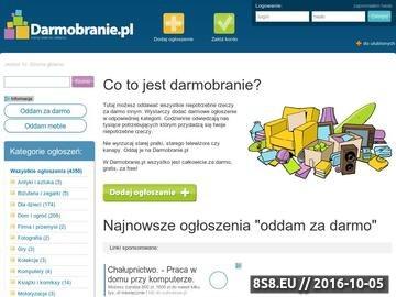 Zrzut strony Oddam za darmo - darmowe ogłoszenia na Darmobranie.pl