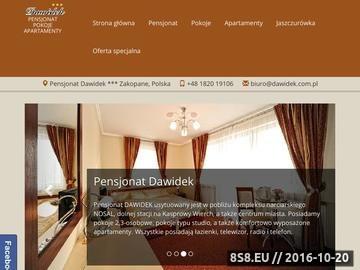 Zrzut strony Pensjonat DAWIDEK - pokoje