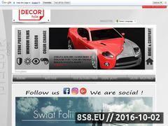 Miniaturka Przyciemnianie szyb samochodowych oraz zmiana koloru (www.decorfolie.pl)