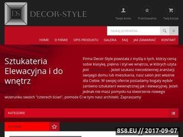 Zrzut strony SZTUKATERIA - D E C O R - S Y S T E M - partners