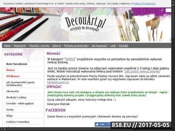 Zrzut strony DecouArt.pl - sklep z artykułami do decoupage