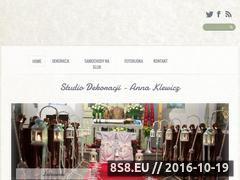 Miniaturka domeny www.dekoracjeslubnebydgoszcz.pl
