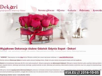 Zrzut strony Dekoracje ślubne