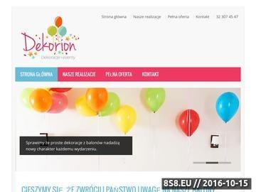 Zrzut strony Oryginalne kompozycje balonowe Katowice