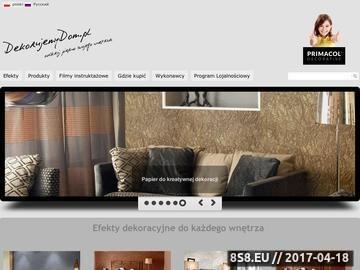 Zrzut strony Systemy dekoracji, tynki strukturalne i dekoracyjne, aranżacja wnętrz