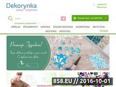 Miniaturka Sklep z koralikami i półfabrykatami do biżuterii (www.dekorynka.pl)