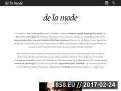 Miniaturka www.delamode.pl (Inspiracje modowe)