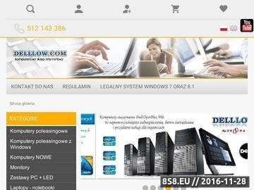 Zrzut strony Używane komputery DELL GX280, GX620, GX745 - Używane laptopy HP nc6220