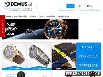 Zrzut strony Sklep internetowy z zegarkami