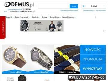 Zrzut strony Demus.pl - Zegarki Sklep