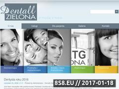 Miniaturka domeny www.dentallzielona.pl