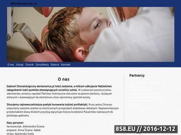 Zrzut strony DentAmerica - stomatologia i implantologia