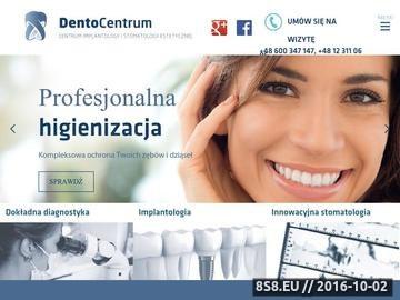 Zrzut strony Dentocentrum - dobry dentysta Kraków