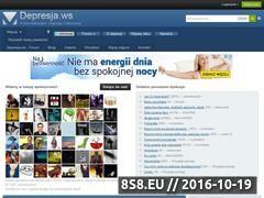 Miniaturka www.depresja.ws (Forum dyskusyjne na temat depresji i nerwic)