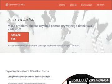 Zrzut strony Detektyw Gdańsk - agencja detektywistyczna
