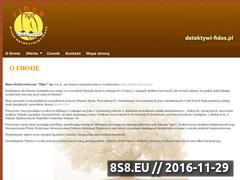 Miniaturka domeny www.detektywi-fides.pl