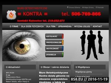 Zrzut strony Usługi detektywistyczne