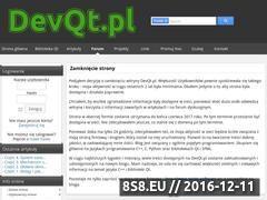 Miniaturka domeny www.devqt.pl