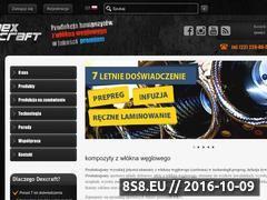 Miniaturka dexcraft.pl (Wyroby z włókna węglowego, sportowe doloty)