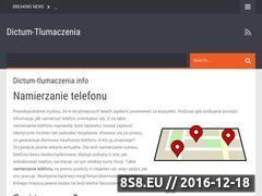 Miniaturka domeny www.dictum-tlumaczenia.pl