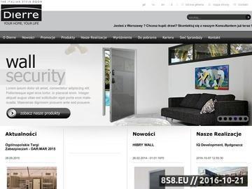Zrzut strony Producent drzwi wewnętrznych - Dierre.PL