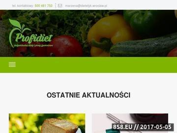 Zrzut strony Dietetyk Wrocław