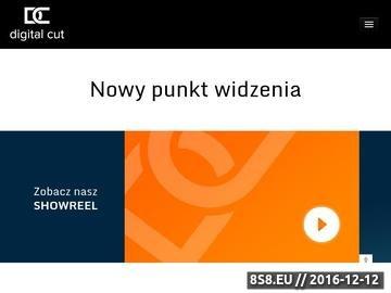 Zrzut strony Digitalcut.pl - motion design