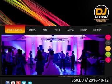 Zrzut strony DJ Damko - Dj na wesele, imprezę firmową, okolicznościową i nie tylko