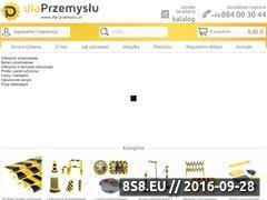 Miniaturka Odbojnice przemysłowe, słupki z taśmą oraz lustra (dla-przemyslu.pl)