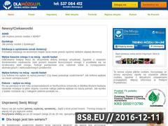 Miniaturka domeny www.dlamozgu.pl