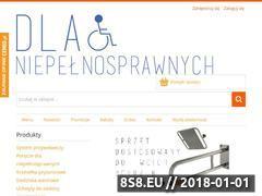 Miniaturka www.dlaniepelnosprawnych.pl (Poręcze dla niepełnosprawnych oraz lustra uchylne)