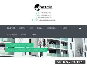 Zrzut strony Oprogramowanie do zarządzania nieruchomością