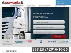 Miniaturka domeny dlaprzewoznika.pl