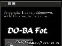 Miniaturka dobafot.pl (Oferta foto i videfilmowania ślubów - imprez)