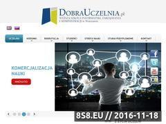 Miniaturka domeny www.dobrauczelnia.pl
