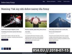 Miniaturka dobreimiefirmy.pl (Naming firmy, tworzenie nazw dla firm i produktów)