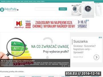 Zrzut strony DobrePralki.pl - wszystko o pralkach