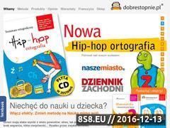 Miniaturka www.dobrestopnie.pl (Zajęcia dla dzieci, hip-hop ortografia, mnożenie i łatwa nauka)
