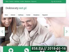 Miniaturka domeny doktoraty.net.pl