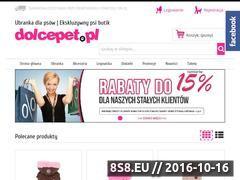 Miniaturka dolcepet.pl (Ekskluzywne ubranka dla psów w super cenach)
