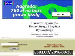 Miniaturka domeny dolinastruguogloszenia.cba.pl