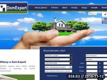 Zrzut strony Dom-Expert Dobre biuro nieruchomości Poznań, Łódź, Wrocław, Murowana Goślina