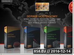 Miniaturka domena500.pl (Niezawodny hosting bez spamu, wirusów I fishingu)