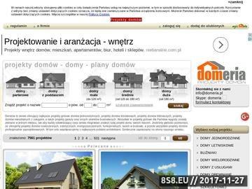Zrzut strony Projekty domów jednorodzinnych - domeria.pl