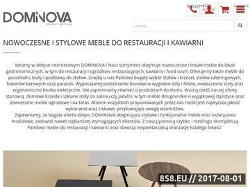 Zrzut strony Meble restauracyjne uznanej firmy Miladesign w sklepie Dominova.