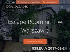 Miniaturka domzagadek.pl (Escape Room Dom Zagadek)